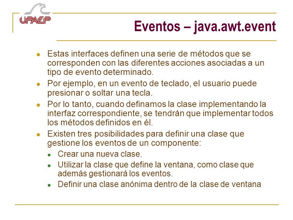 Eventos – java.awt.event