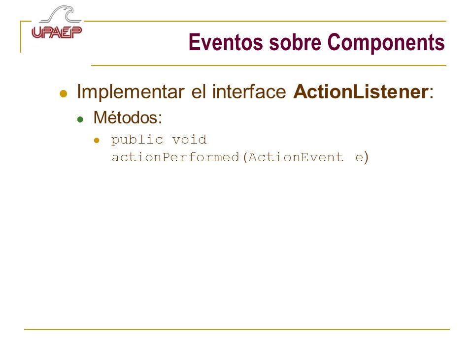 Eventos sobre Components