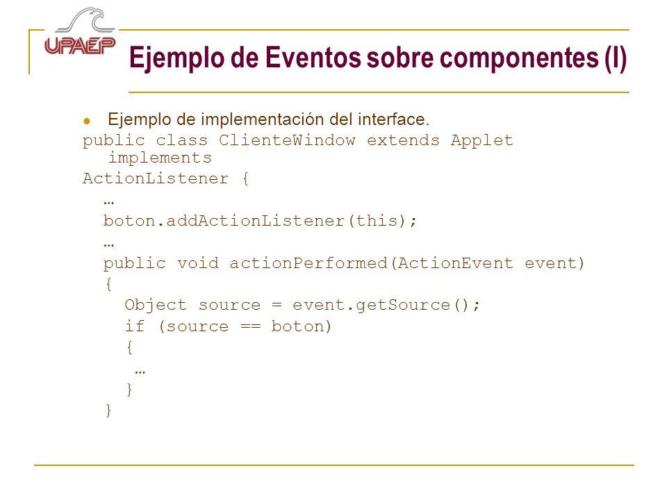 Ejemplo de Eventos sobre componentes (I)