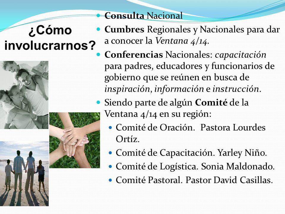 ¿Cómo involucrarnos Consulta Nacional