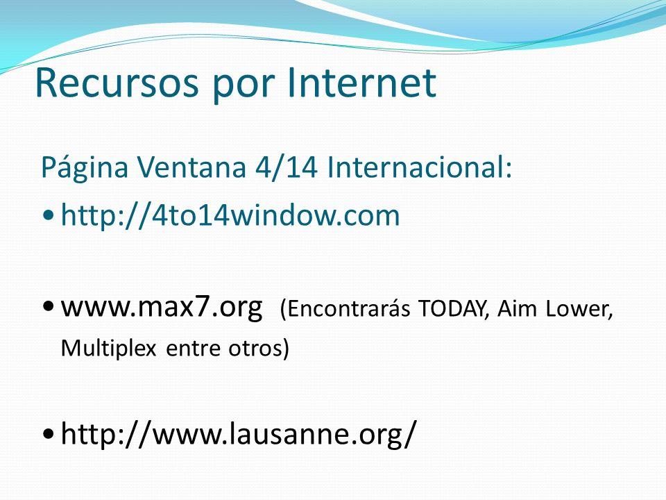 Recursos por Internet Página Ventana 4/14 Internacional: