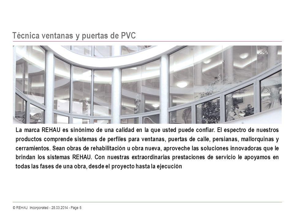 Técnica ventanas y puertas de PVC