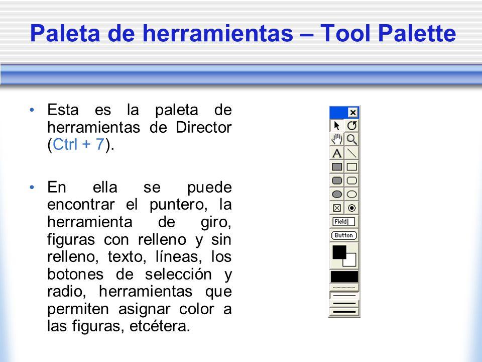 Paleta de herramientas – Tool Palette