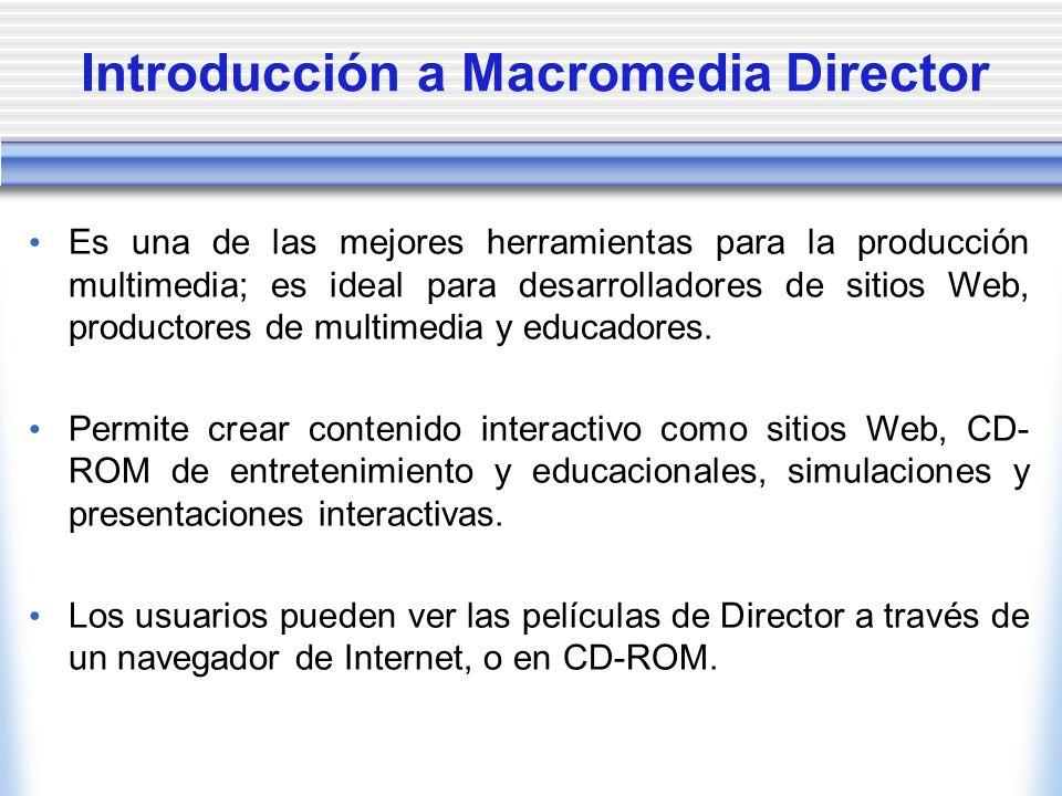 Introducción a Macromedia Director