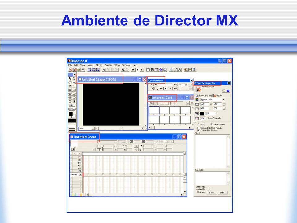 Ambiente de Director MX