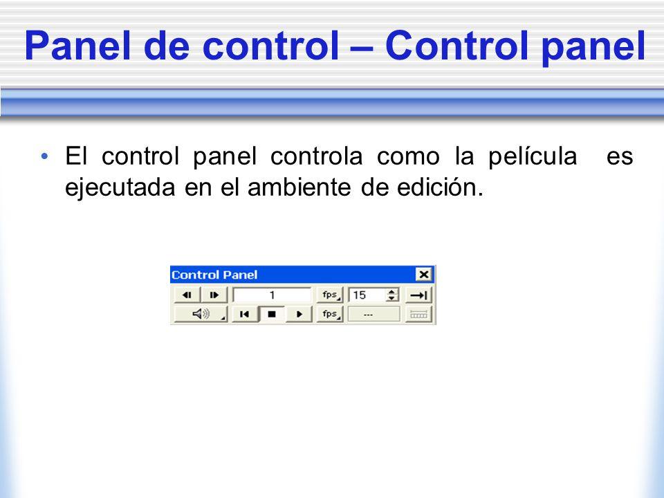 Panel de control – Control panel