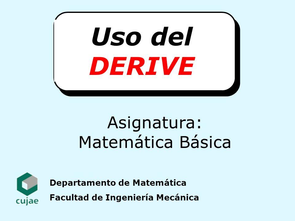Asignatura: Matemática Básica