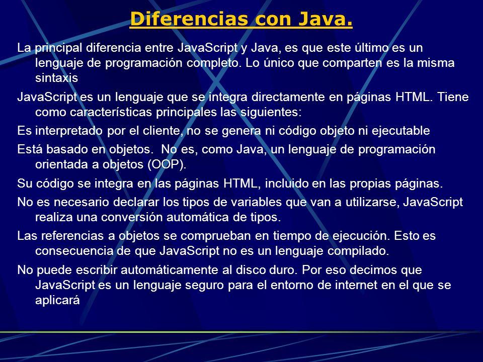 Diferencias con Java.