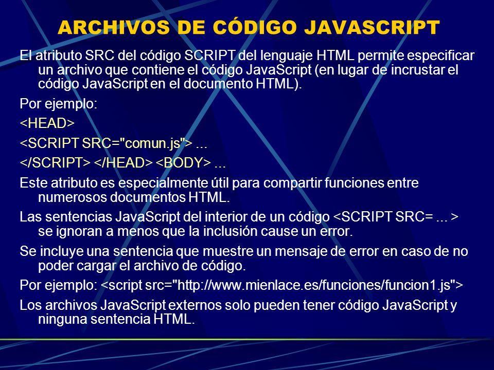 ARCHIVOS DE CÓDIGO JAVASCRIPT