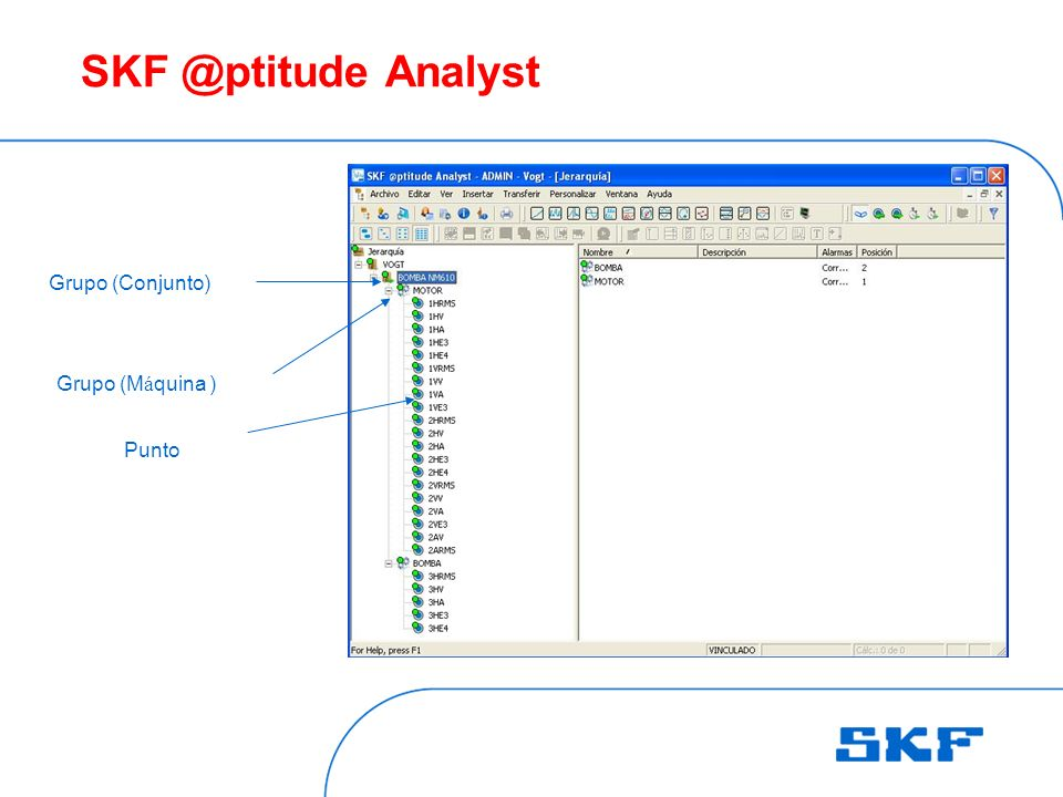 SKF @ptitude Analyst Grupo (Conjunto) Grupo (Máquina ) Punto