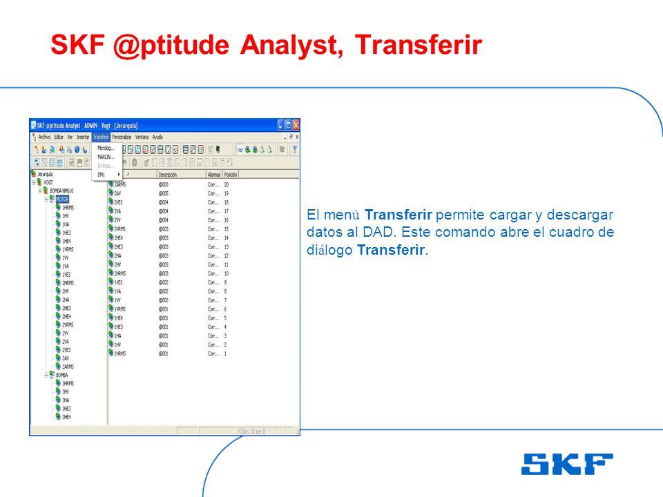 SKF @ptitude Analyst, Transferir