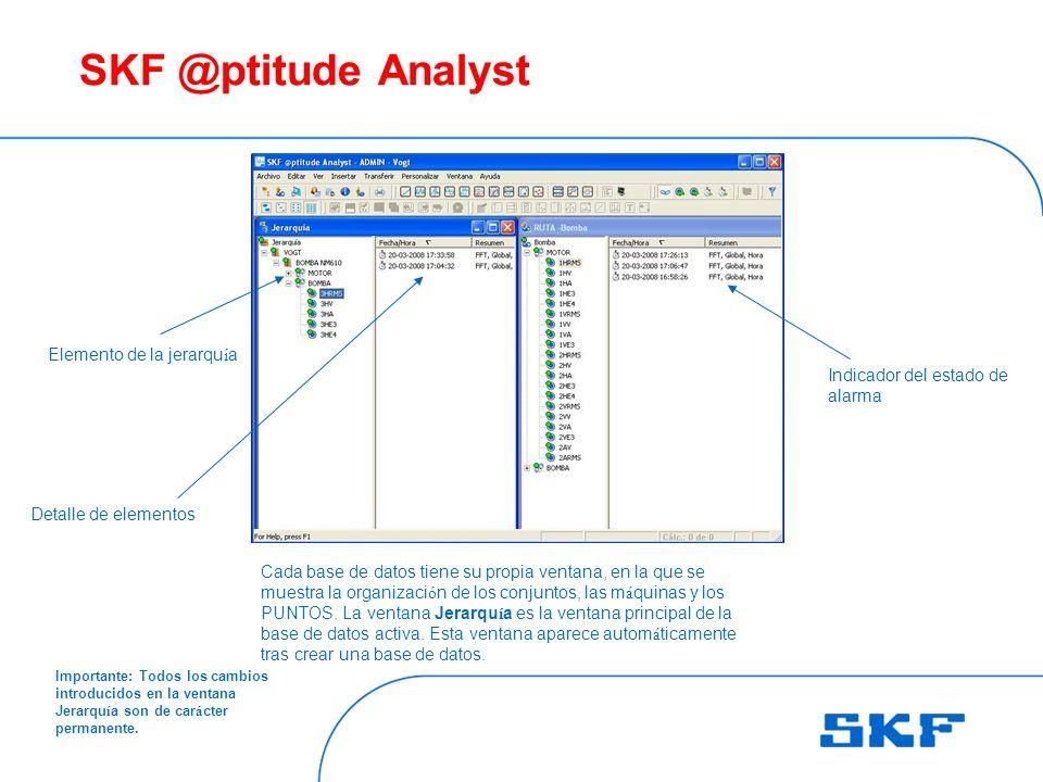 SKF @ptitude Analyst Elemento de la jerarquía