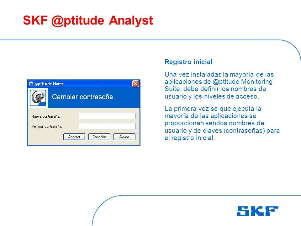 SKF @ptitude Analyst Registro inicial