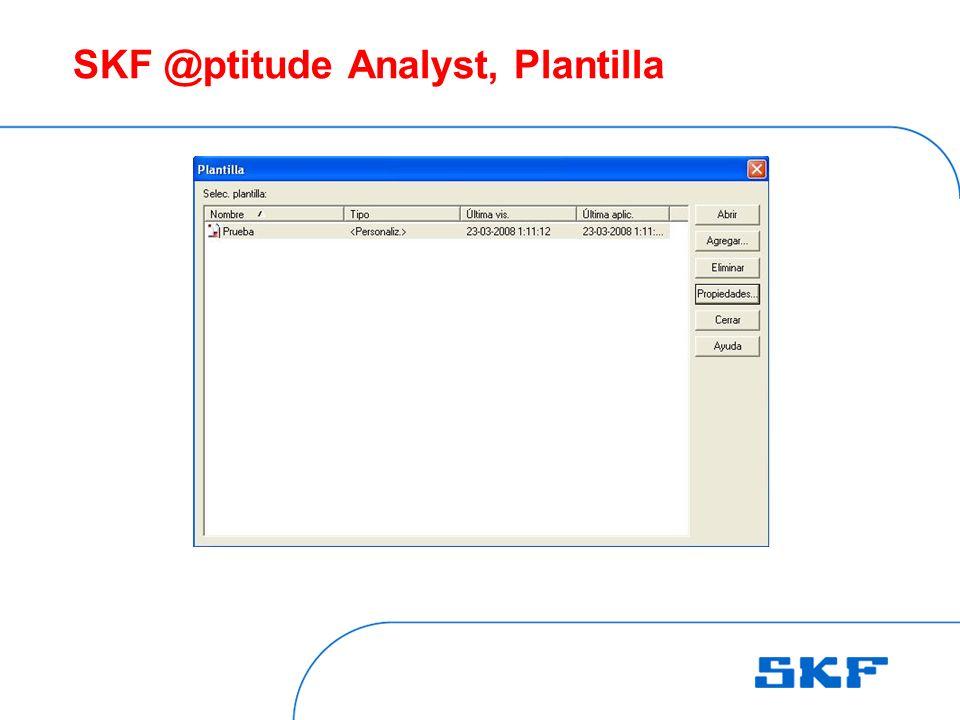 SKF @ptitude Analyst, Plantilla