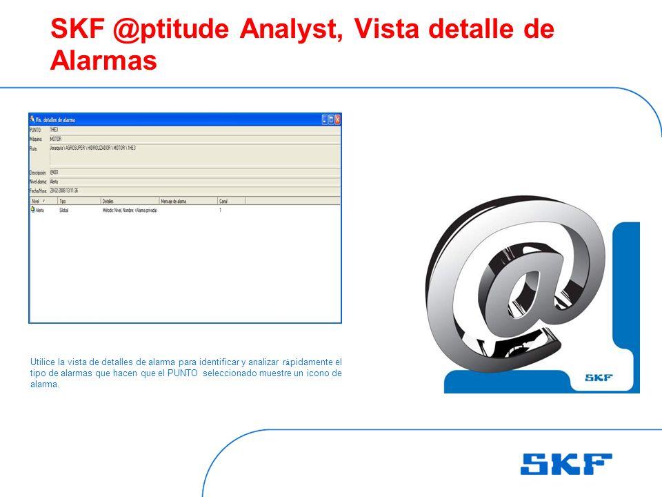 SKF @ptitude Analyst, Vista detalle de Alarmas