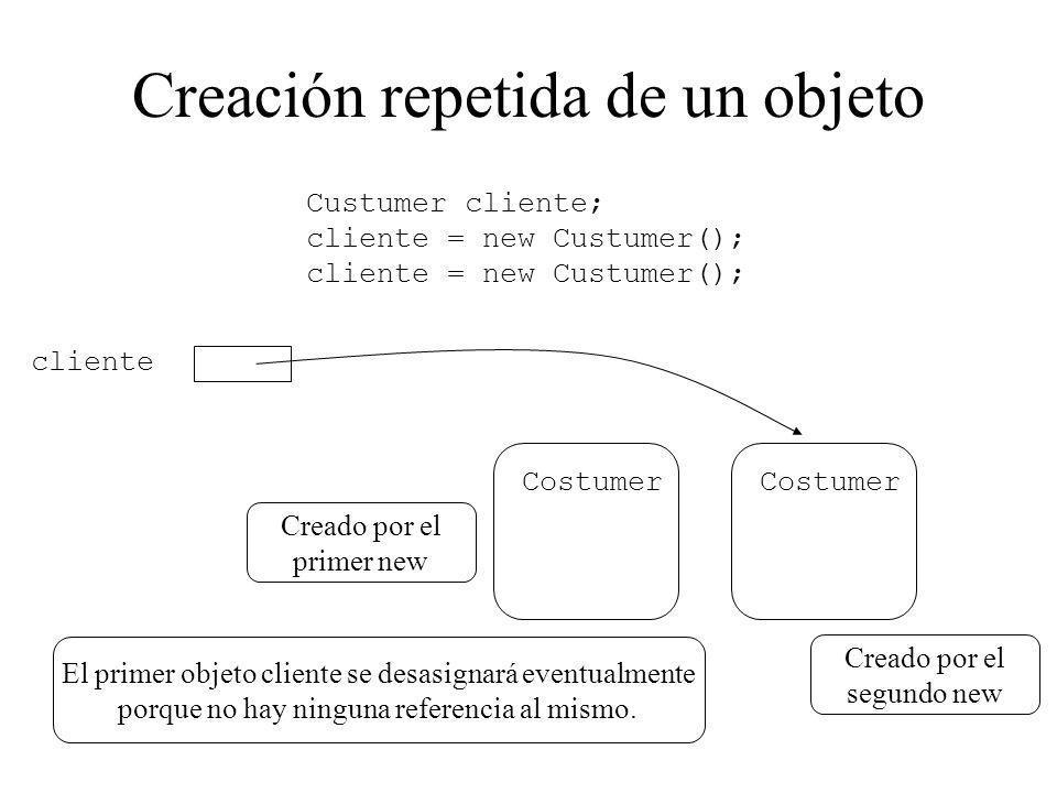 Creación repetida de un objeto
