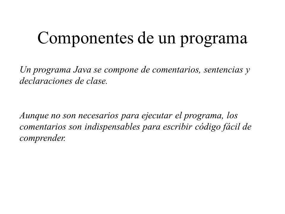 Componentes de un programa