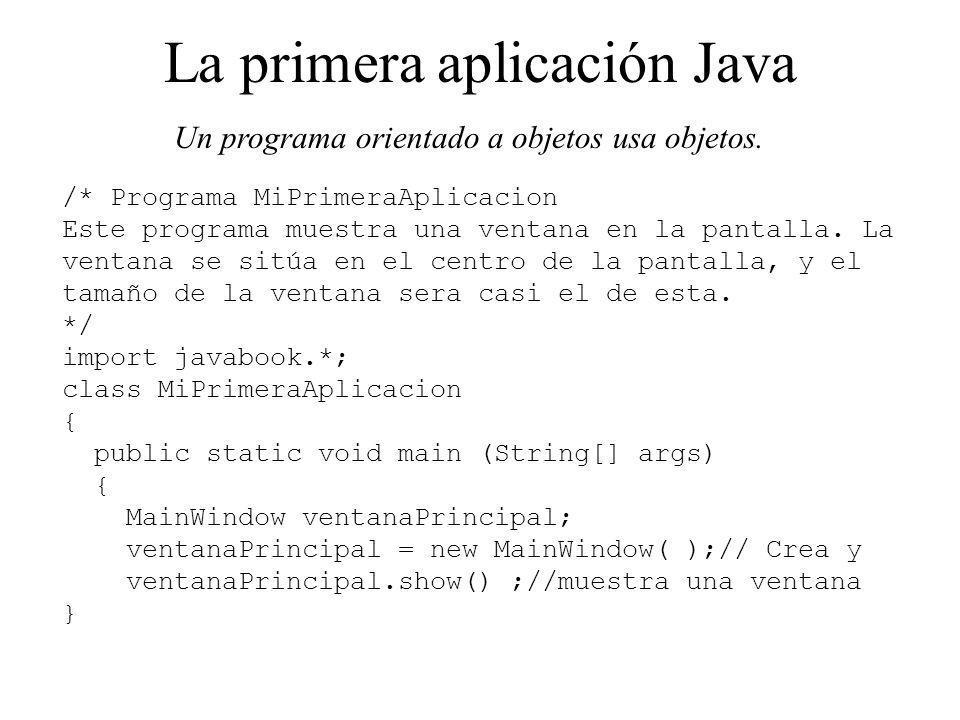 La primera aplicación Java
