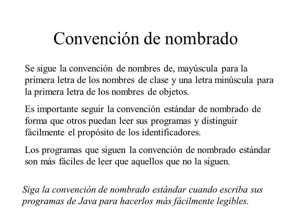 Convención de nombrado