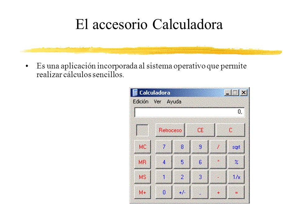 El accesorio Calculadora
