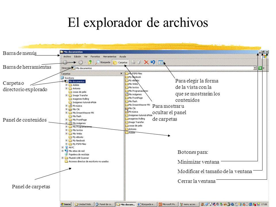 El explorador de archivos