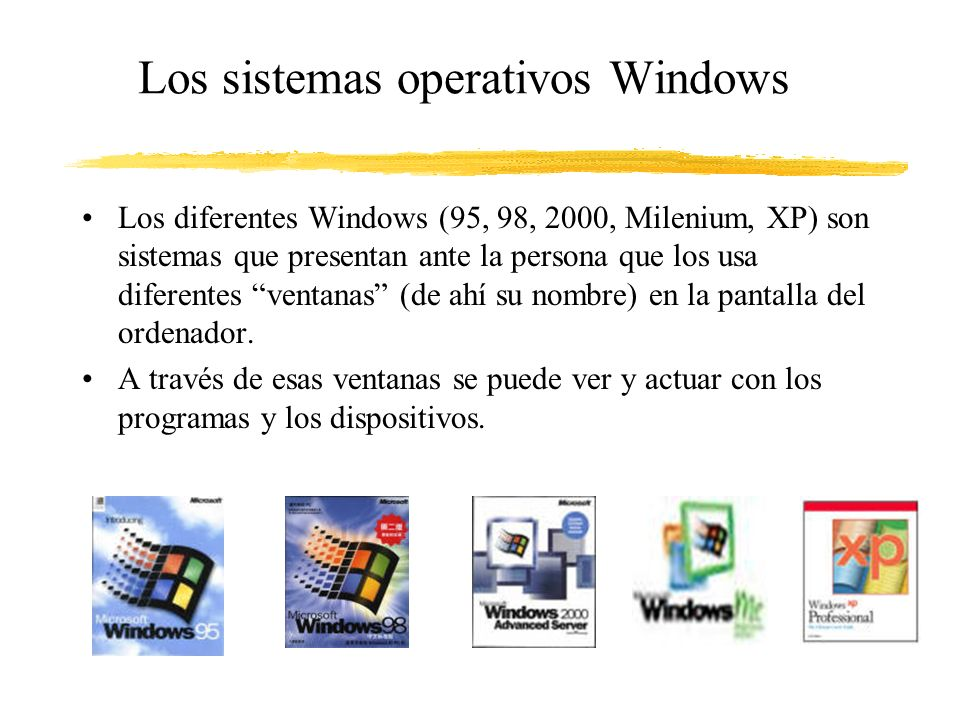 Los sistemas operativos Windows