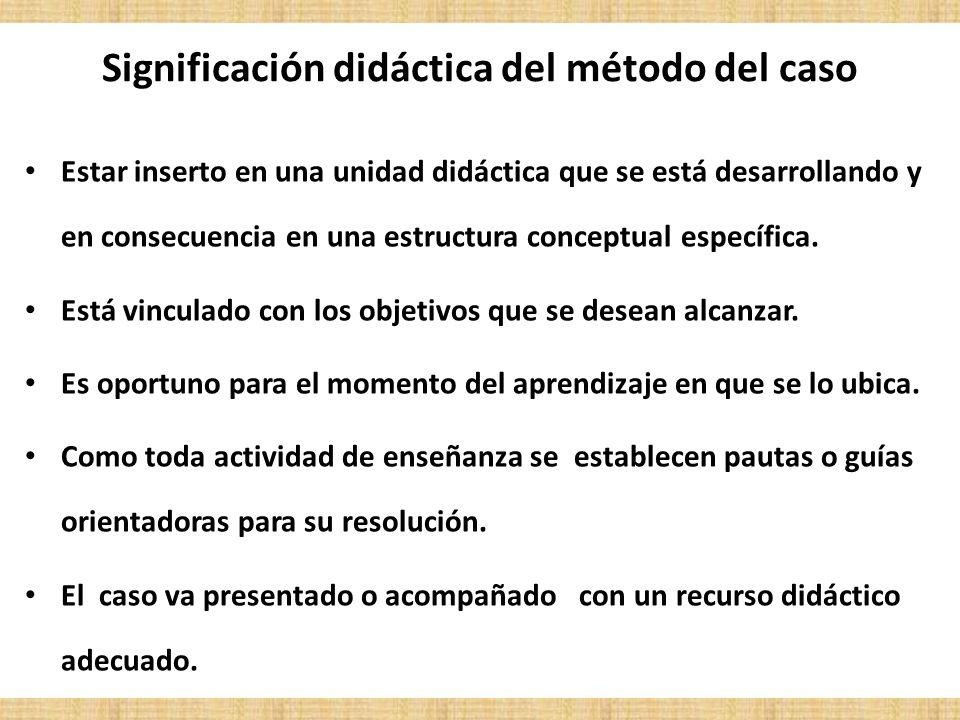 Significación didáctica del método del caso