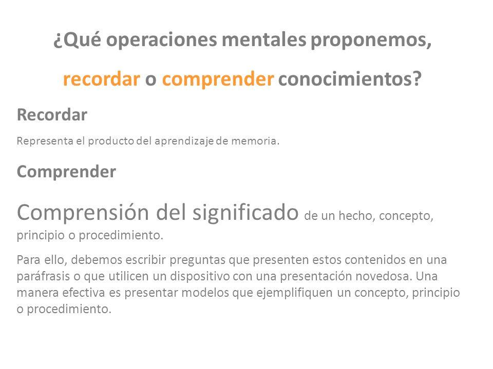 ¿Qué operaciones mentales proponemos,