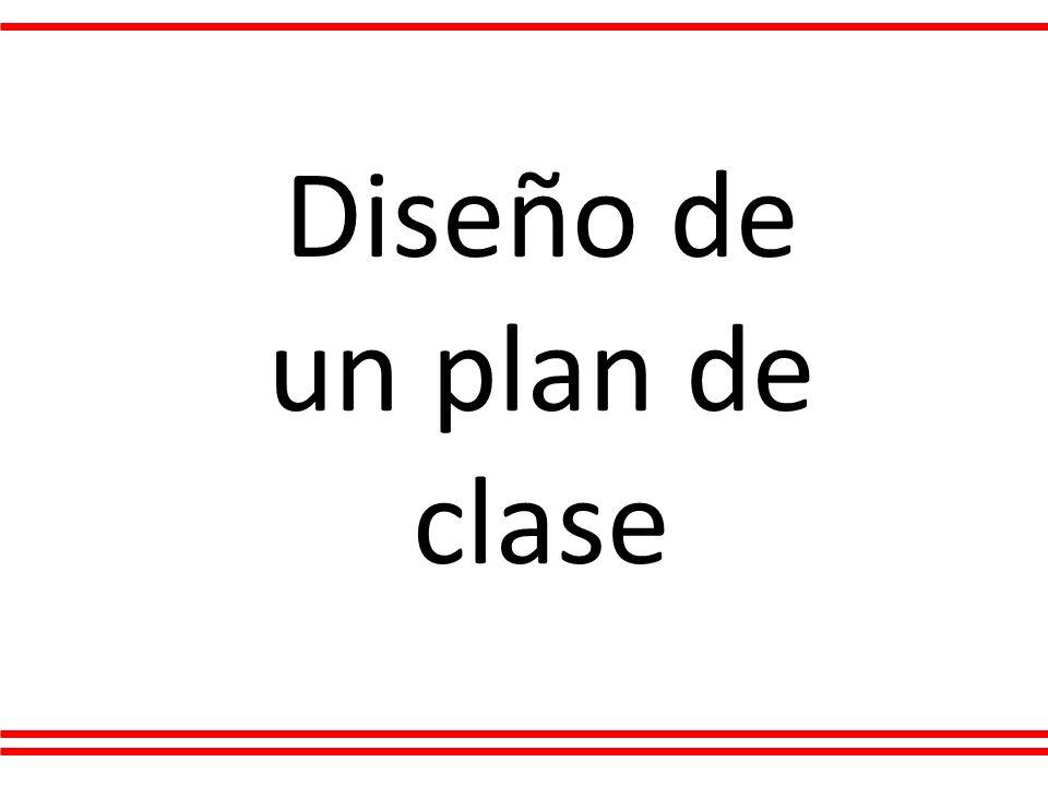 Diseño de un plan de clase
