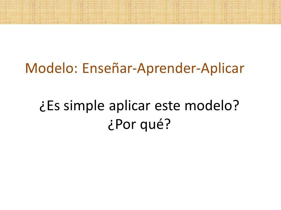 ¿Es simple aplicar este modelo ¿Por qué