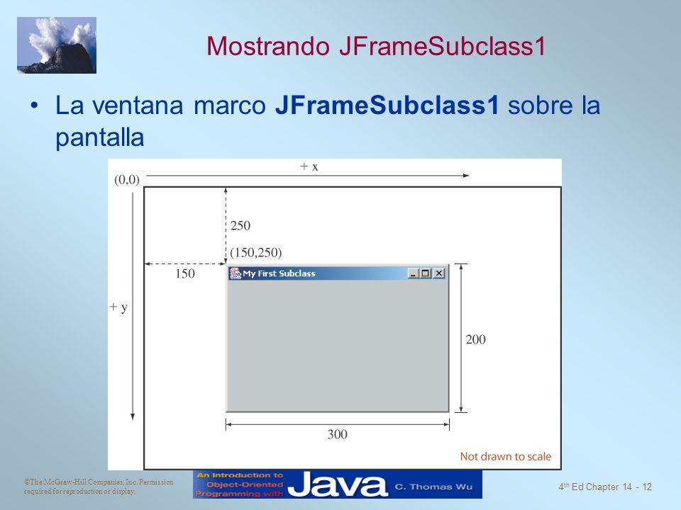 Mostrando JFrameSubclass1