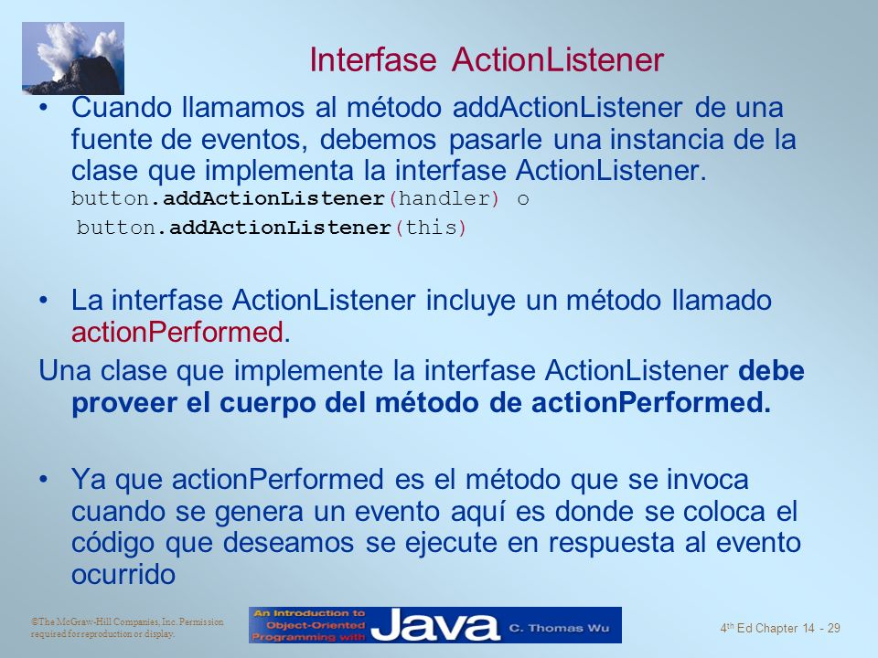 Interfase ActionListener