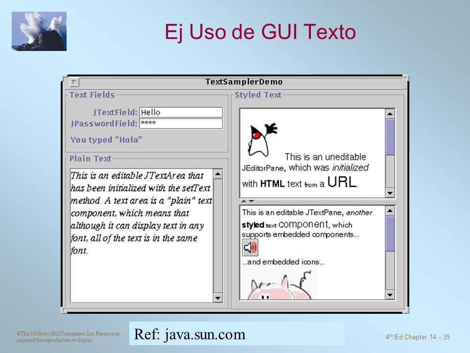 Ej Uso de GUI Texto Ref: java.sun.com