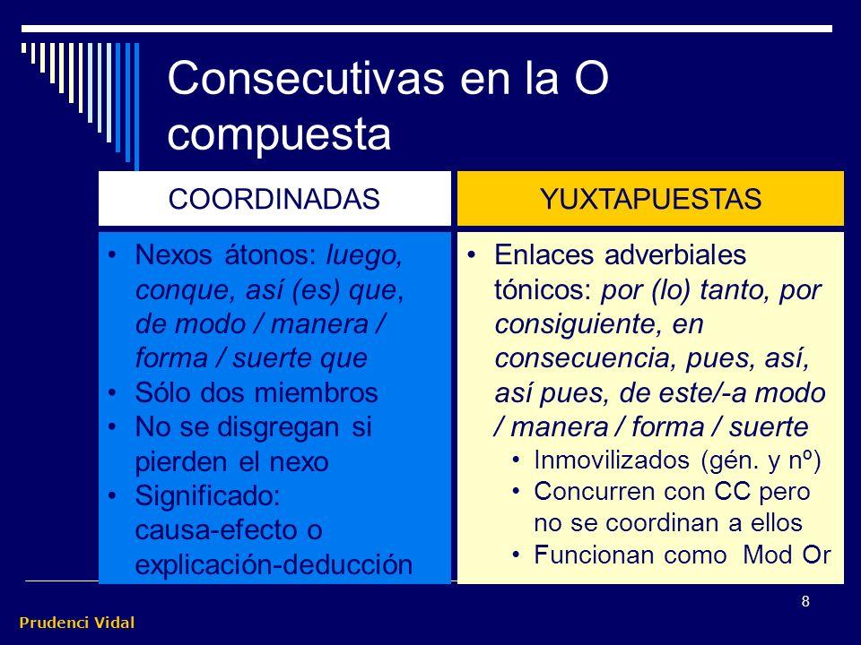 Consecutivas en la O compuesta