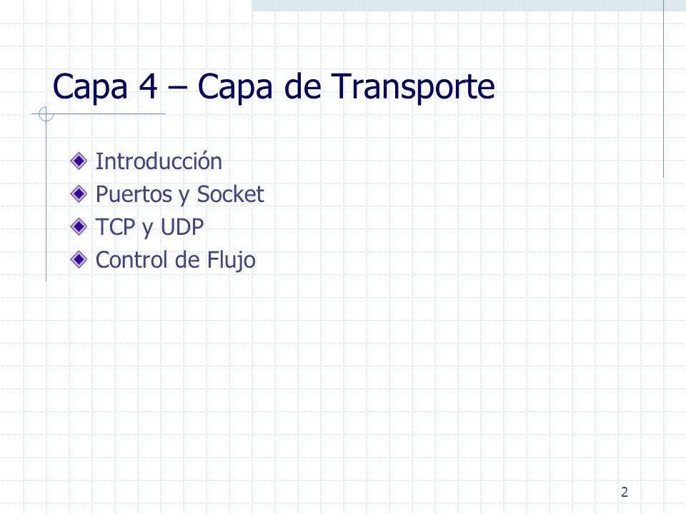 Capa 4 – Capa de Transporte
