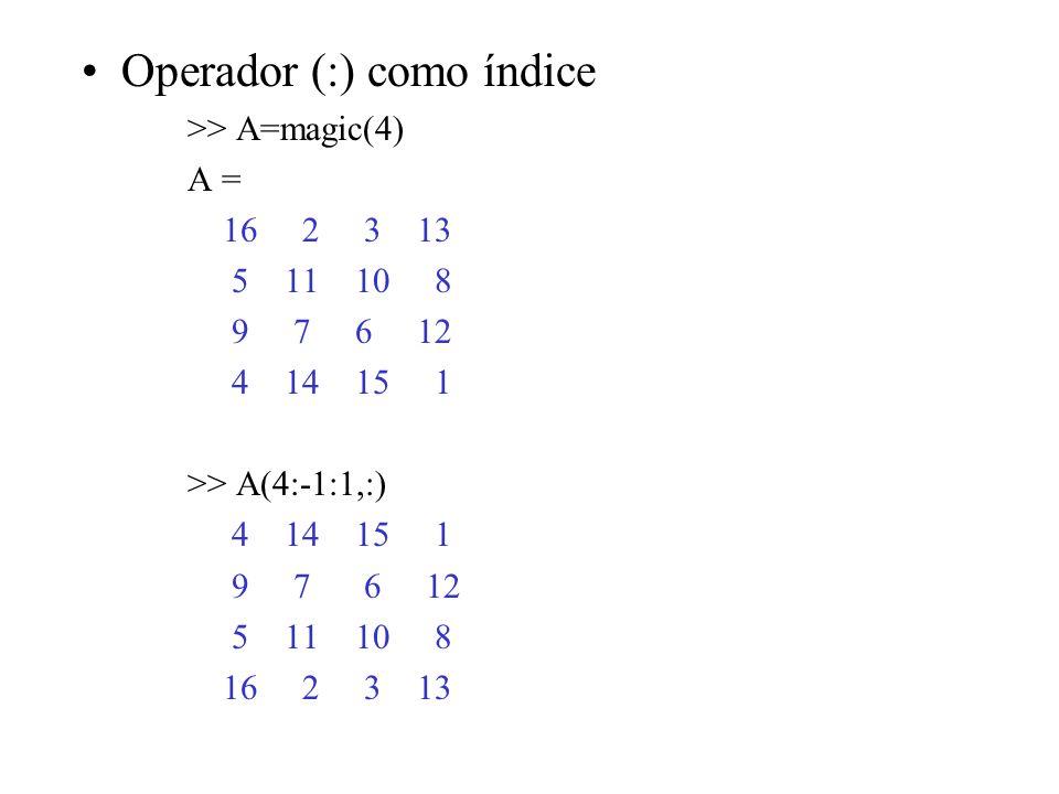 Operador (:) como índice