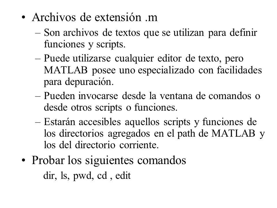 Archivos de extensión .m