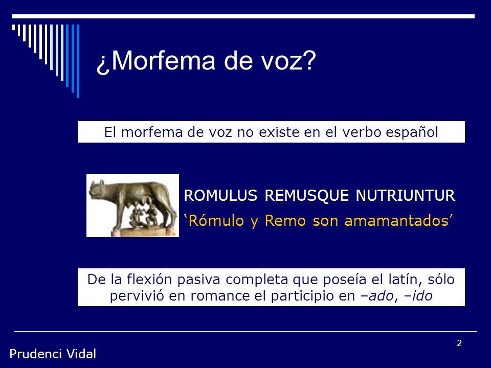 El morfema de voz no existe en el verbo español