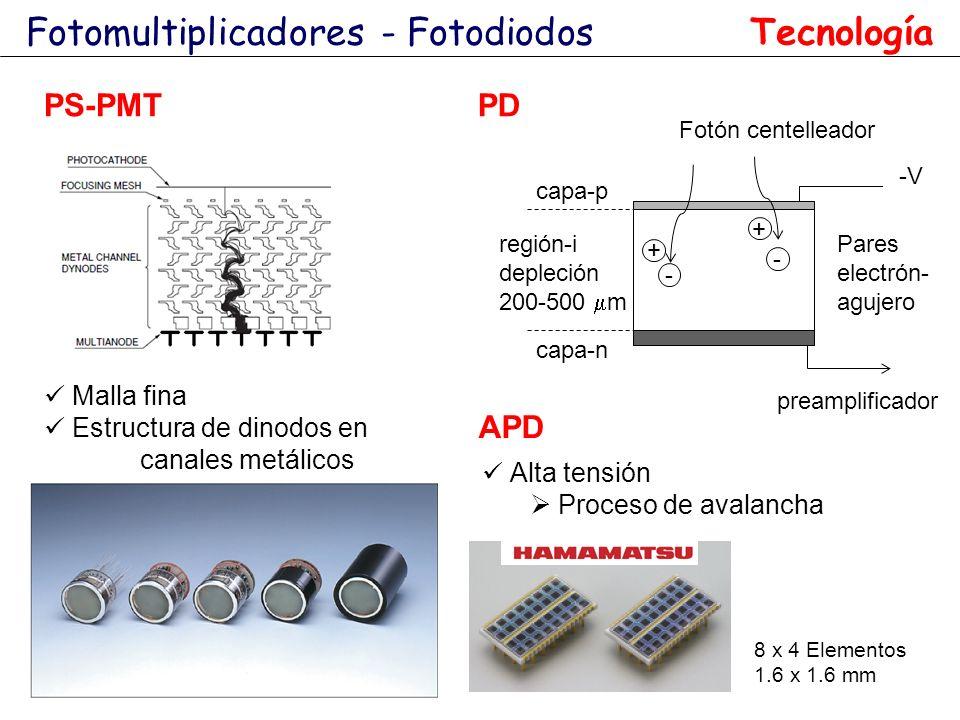 Fotomultiplicadores - Fotodiodos Tecnología