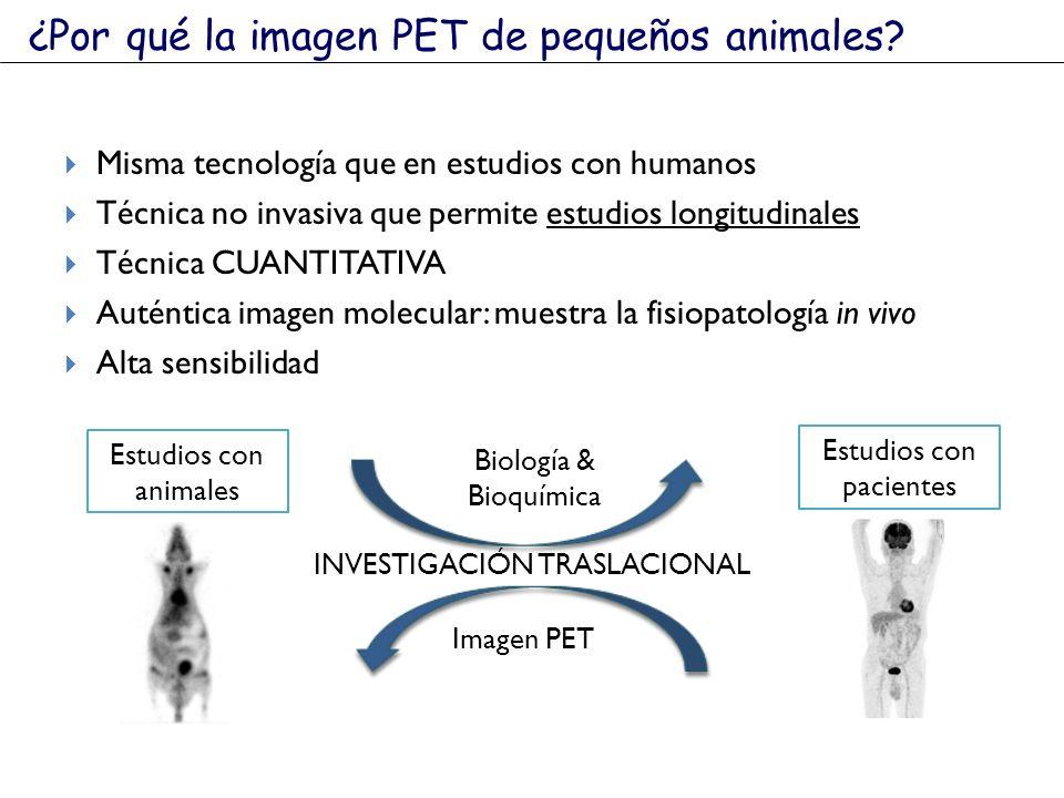 ¿Por qué la imagen PET de pequeños animales