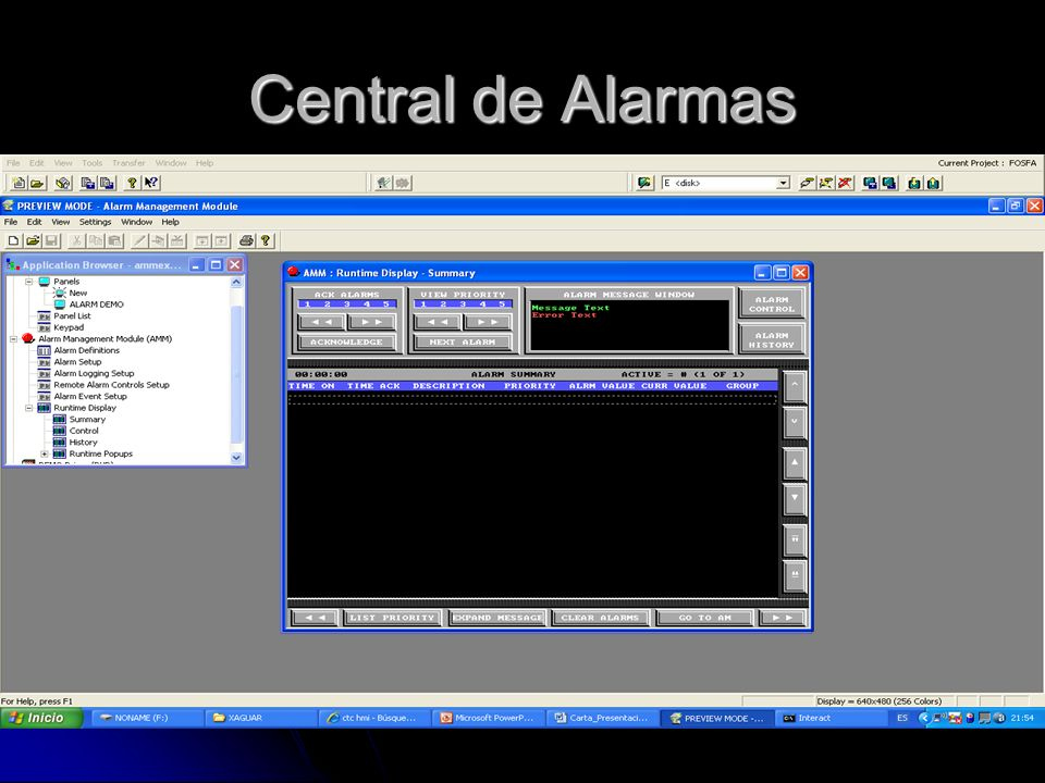 Central de Alarmas