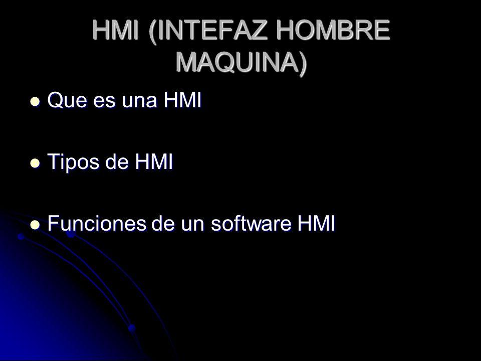 HMI (INTEFAZ HOMBRE MAQUINA)