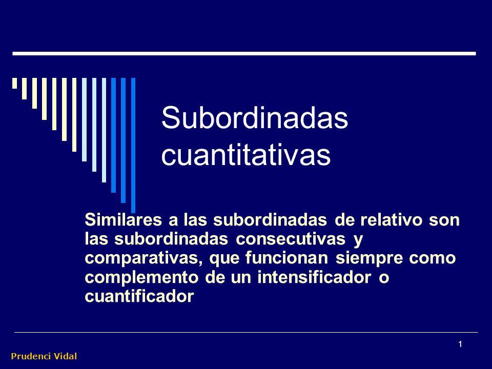 Subordinadas cuantitativas