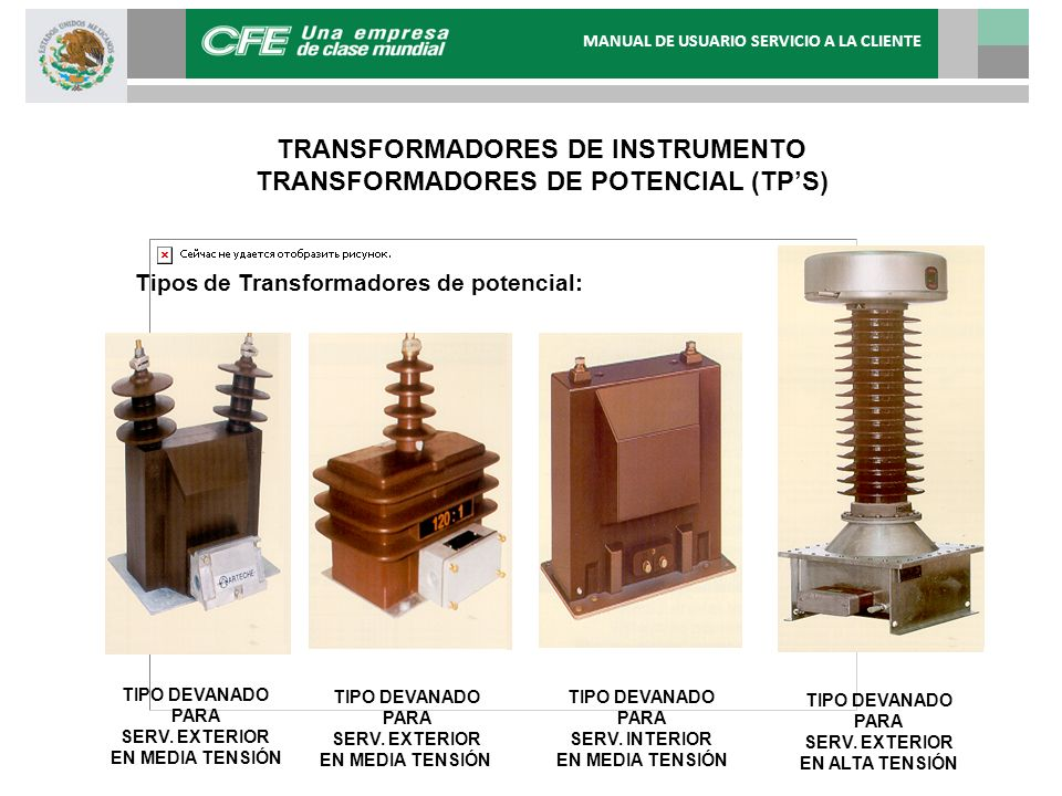 TRANSFORMADORES DE INSTRUMENTO TRANSFORMADORES DE POTENCIAL (TP'S)