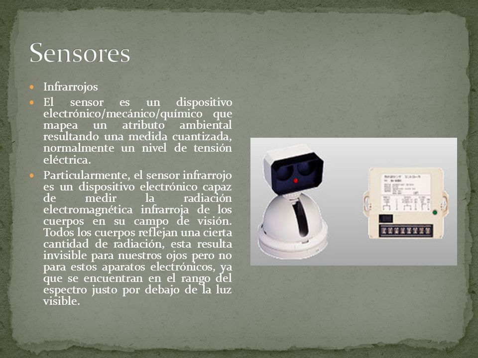 Sensores Infrarrojos.