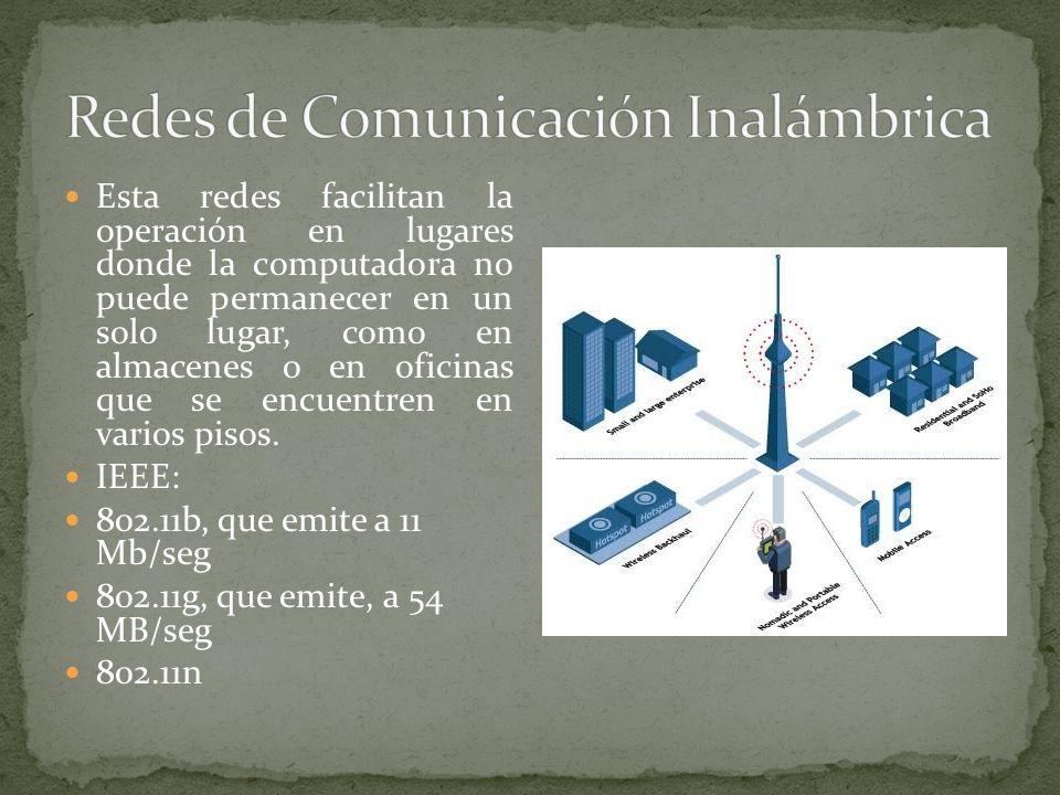 Redes de Comunicación Inalámbrica