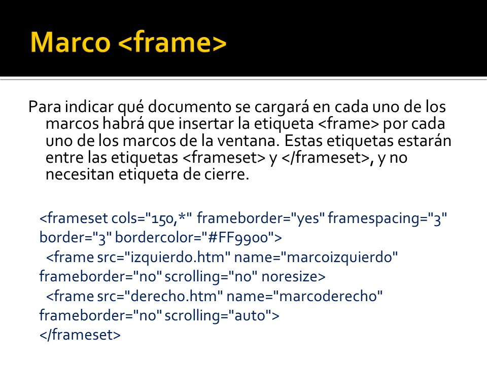 Marco <frame>