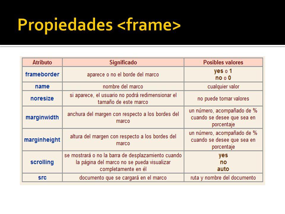 Propiedades <frame>