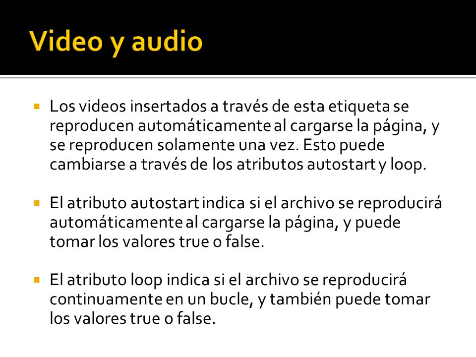 Video y audio