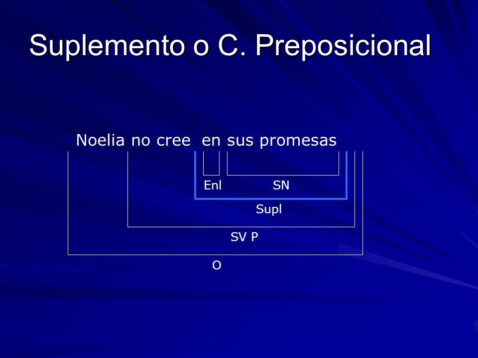 Suplemento o C. Preposicional
